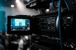 Professional camera recording video